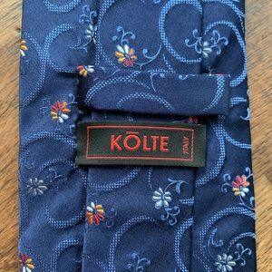 KŌLTE Blue & Red Floral Silk Tie